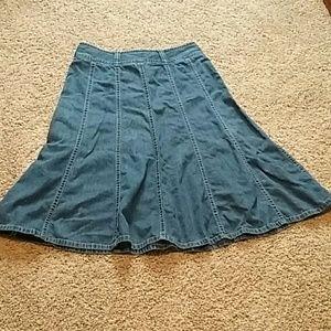 Liz Claiborne jean skirt